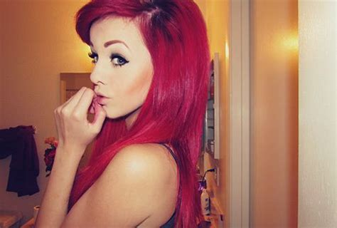 what looks good with red red dyed hair tumblr why do girls dye their hair red
