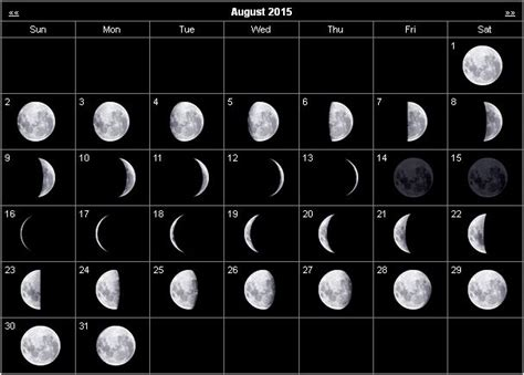 printable calendar 2016 with moon phases moon phase calendar august 2015 gallery