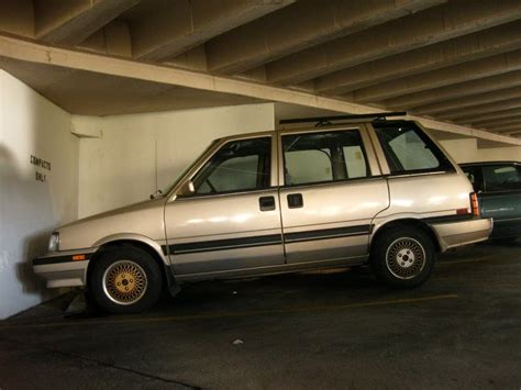 nissan stanza lowered old parked cars 1987 nissan stanza wagon