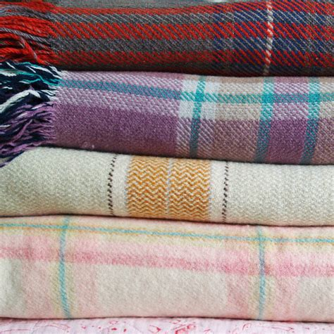 Vintage Blankets And Throws by Vintage Check Blanket By Velvet Ribbon