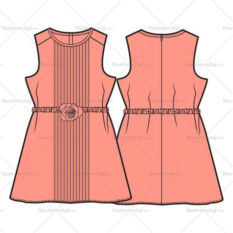 dress template for adobe illustrator girls dress fashion flat template illustrator stuff