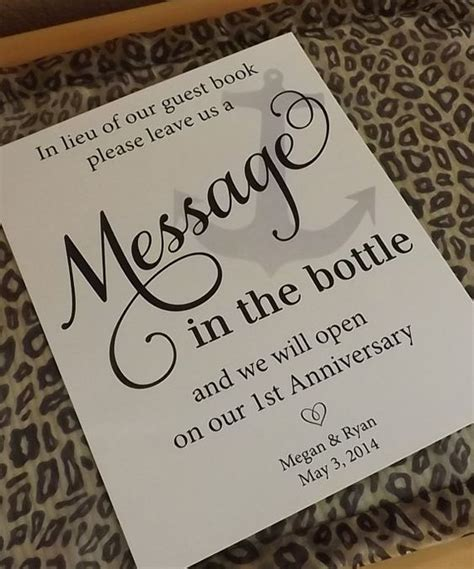 Wedding Message To Guests by Message In The Bottle Wedding Guest Book Wedding