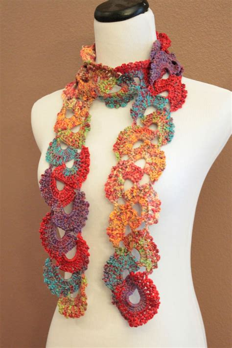 crochet pattern queen anne s lace scarf crochet scarf queen annes lace ombre varigated multicolor