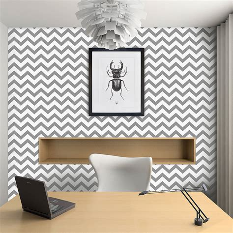 self sticking wallpaper contemporary chevron self adhesive wallpaper by oakdene