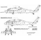 Sikorsky UH 60 Black Hawk Blueprint  Download Free For 3D