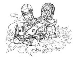mortal kombat coloring pages bestofcoloring