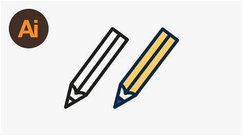 design icon in illustrator draw a vector pencil icon in illustrator roxane web