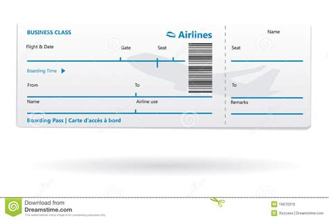 Blank Airline Ticket Free Download Chlain College Publishing Boarding Pass Template