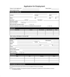 employment application form template free application templates 18 free word excel pdf