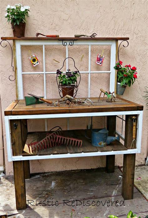 vintage potting bench rustic rediscovered vintage garden potting bench