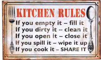 Decoupage Home Decor Wilco Home Decoupage Metal Quot Kitchen Rules Quot Wall Sign