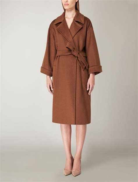 Jas Valenza max mara ara tobacco coat find your