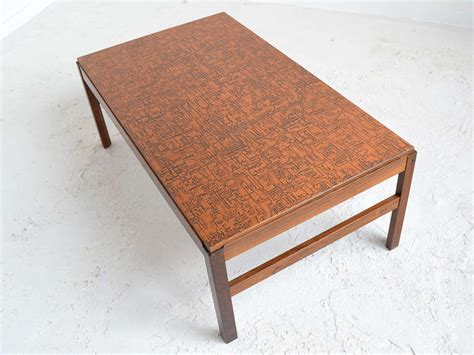 Copper Top Coffee Tables Rosewood Coffee Table With Textured Copper Top At 1stdibs
