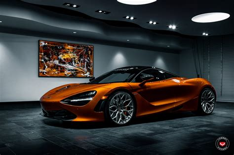 custom mclaren 720s magnetic orange mclaren 720s with vertical doors