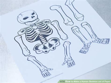 How To Make A Skeleton With Paper - how to make a human skeleton out of paper 12 steps