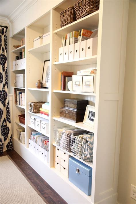 ikea hack billy bookcases with beadboard back baseboard