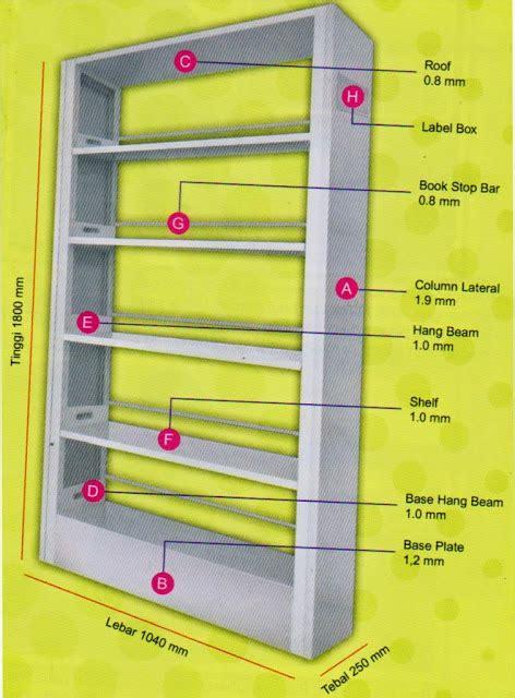 Rak Buku Perpustakaan Rione rak buku perpustakaan 1 2 muka rione lemari arsip geser