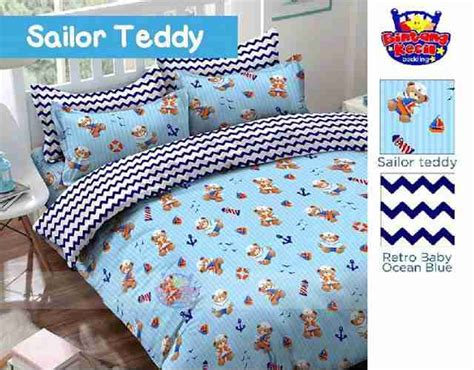 Sprei Teddy Uk 180 X 200 detail produk sprei dan bedcover saylor teddy toko bunda