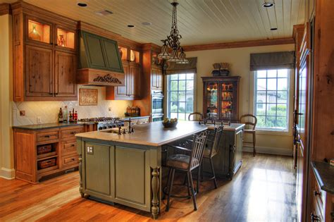Kitchen Color Schemes With Oak Cabinets by Luxury Home With A View Traditional Kitchen Austin