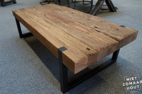 salontafel hout kopen massieve salontafel oud hout nietzomaarhout nl