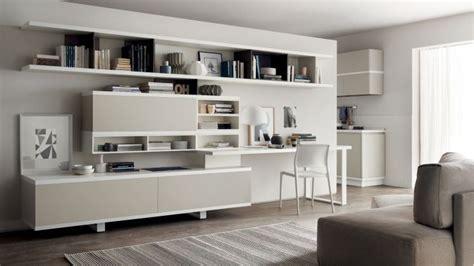 parete attrezzata con scrivania angolo studio soluzioni e ispirazioni progettazione casa