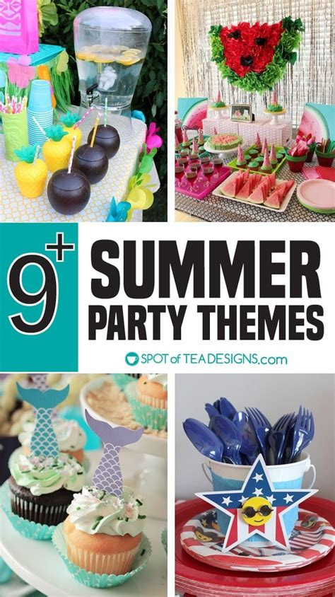 summer party themes spot  tea designs
