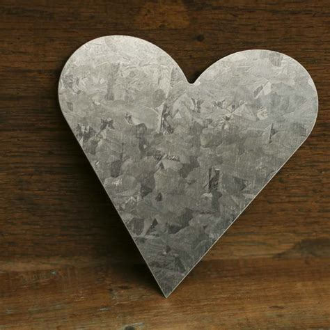 bulk galvanized tin heart cutouts rusty tin cutouts