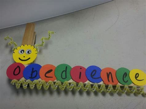 and craft obedience caterpillar autistic crafts