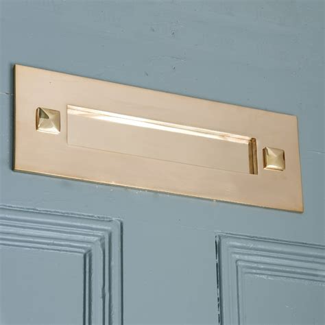 Brass Front Door Furniture Traditional Brass Letterplate