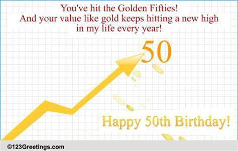 50th Birthday! Free Milestones eCards, Greeting Cards