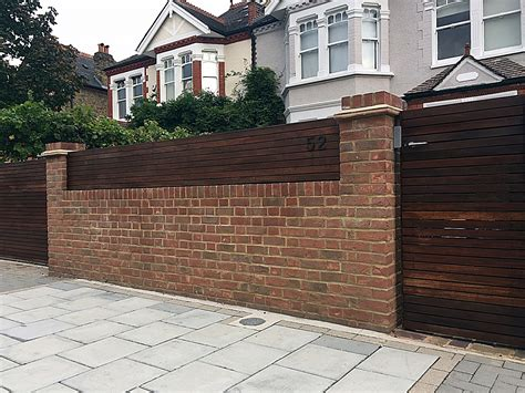 Brick Garden Wall Automatic Gate Hardwood Screen London Brick Garden Walls