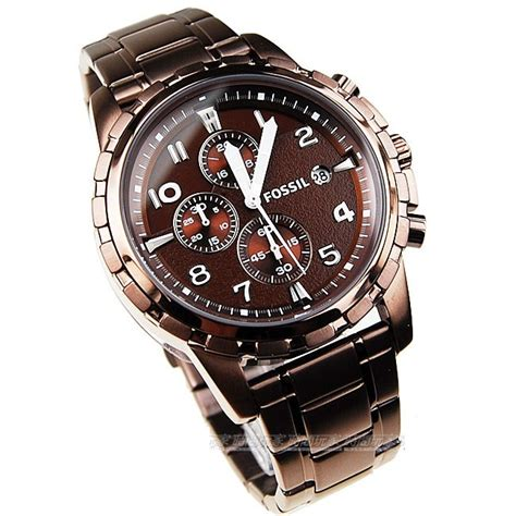 fossil fs4645 chronograph brown mens fossil