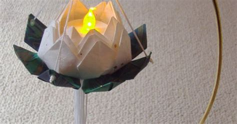 Origami Japanese Lantern - japanese origami lotus flower paper lantern with by