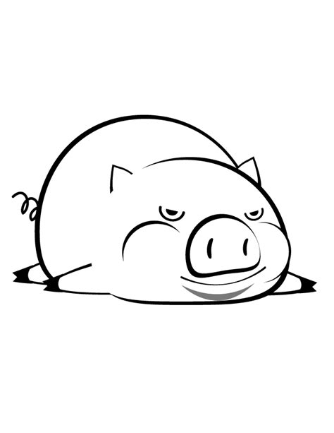 pig lying down coloring page h m coloring pages