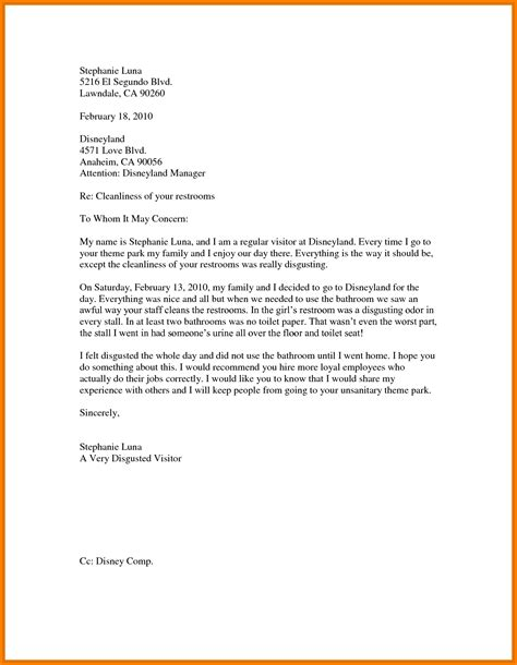 business letter business letter exle for students theveliger