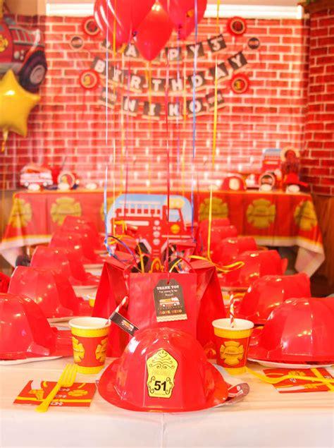 karas party ideas firehouse fireman themed birthday party