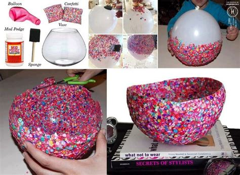 how to make decorative confetti bowls home design garden architecture blog magazine
