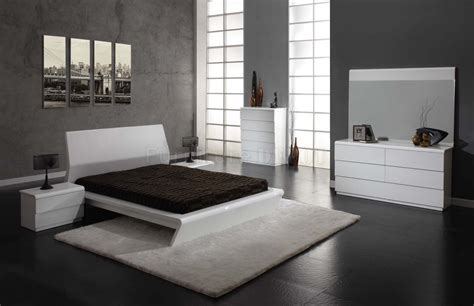 Contemporary White Bedroom Furniture White Modern Bedroom Furniture Set Raya Furniture