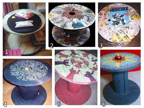 Table En Bobine De Cable by Bobine Ou Touret Customis 233 Id 233 Es Diy D 233 Co