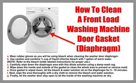 clean mold from front load washer how to clean the door gasket diaphragm on a front load washer removeandreplace