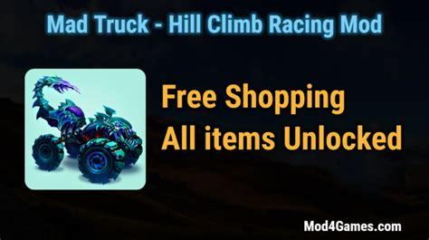 game mod apk hill climb mad truck hill climb racing modded game apk free