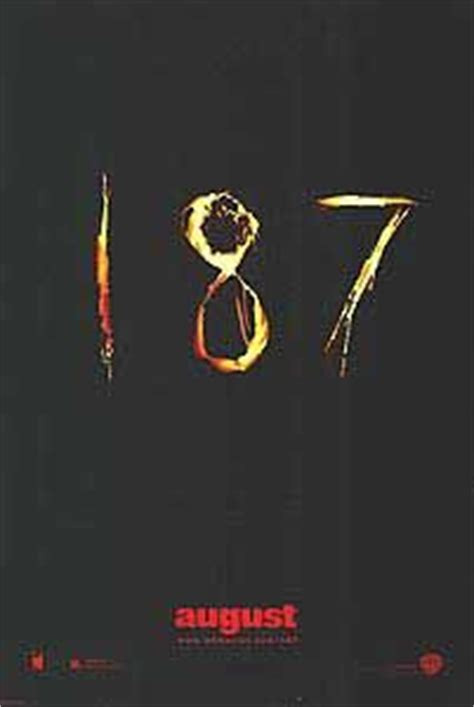 187 Poster Genres 187 Thriller - 187 movie poster 1 of 3 imp awards