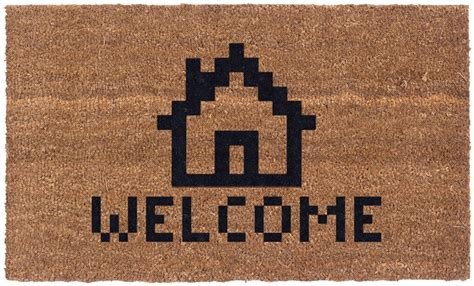 Welcome Home Mats by Vinyl Back Doormat Welcome Home Icon Coir Doormat
