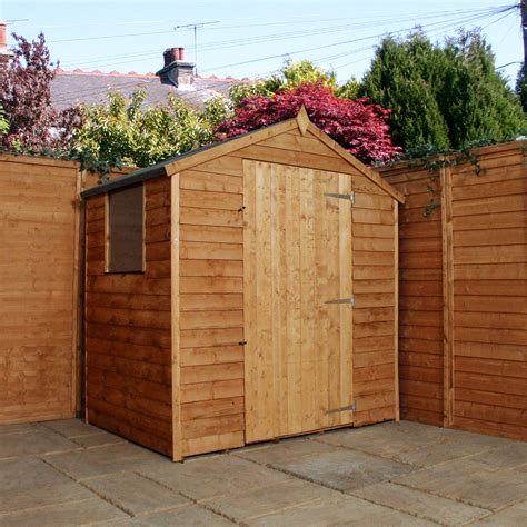 Shed 3 X 6 by 3 X 6 Overlap Apex Shed With Single Door 1 Window 10mm