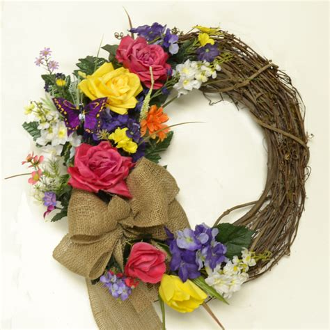 new summer wreaths silk flowers floral home decor