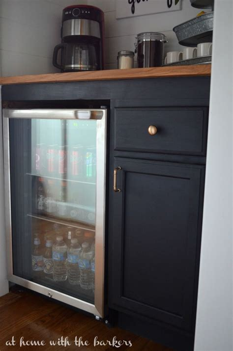 Diy Mini Bar Cabinet How To Build A Beverage Bar At Home With The Barkers