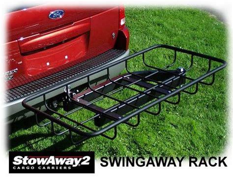 swing away cargo carrier stowaway2 025 3 swing away hitch mount cargo carrier platform