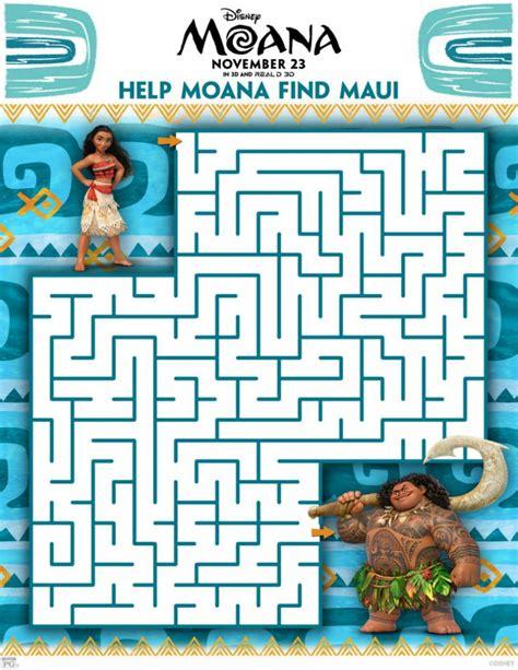 printable mazes disney free disney moana maze mama likes this
