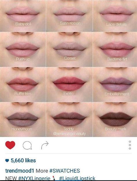 Lipstik Make Liquid by Nyx Liquid Lipstick Swatches Makeup Liquid