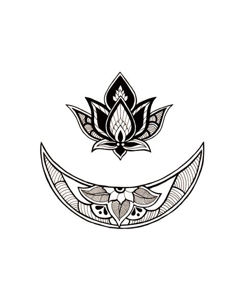 moon flower tattoo design dear artist